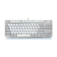 Asus ROG Strix SCOPE NX TKL Moonlight White, Compact Mechanical RGB Gaming Keyboard, ROG NX Mechanical Switches, Stealth Key, Quick-Toggle, White and Grey